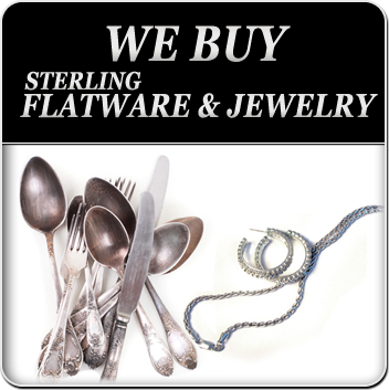sterling flatware and jewelry
